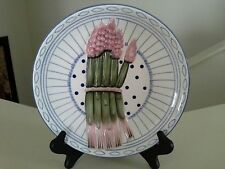 """Vintage Asparagus Plate Hanging Wall Plate Ceramic Multi Colored EUC 8 3/4"""""""