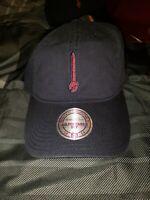 Cleveland Cavaliers Cavs Sword Mitchell & Ness Strapback Navy Blue Hat Cap Dad