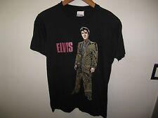 Elvis Presley Tee - Vintage 1989 Rock & Roll The King Thin Black USA T Shirt Med