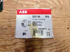 ABB S261-B16NA 1P 16A With Neutral Trip Curve B 277/480VAC Circuit Breaker *NEW*