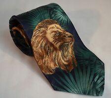 Fratello Multicolor Jungle Lion Roar Hand Made Men's Neck Tie