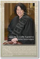 SPANISH Juez de la Corte Suprema Sonia Sotomayor - School Classroom NEW POSTER