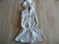 FORNARINA stylisches Kapuzenkleid Rückenfrei Hoodie gold Gr. 8 J NEU  01-14