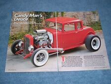 "1932 Ford Hiboy 5-Window Hot Rod Article ""Candy Man's Deuce"" Blown 409"