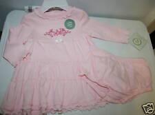 LITTLE ME Ribbon Romance Pink Organic Cotton Dress 6M