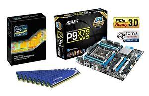 INTEL SIX CORE I7 4960X CPU ASUS X79 MOTHERBOARD 16GB DDR3 MEMORY RAM COMBO KIT