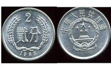 CHINE  2 fen 1983