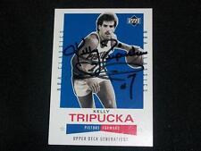 Detroit Pistons Kelly Tripucka Auto Signed 2002 UD NBA Classics Card #135  K