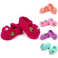 Handmade Newborn baby BOY Girl Crochet Knit Socks Flower Toddler Cartoon Shoes