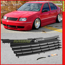99-05 VW Jetta Bora MK4 Euro Black Badgeless Front Hood Grille w/ Notch filler