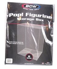BCW Pop! Figure Storage Box, Clear Storage for Boxed Figures (6 Pack)