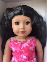 Custom CYO American Girl Doll Gorgeous Black Wavy Hair Hazel Eyes Tan Skin