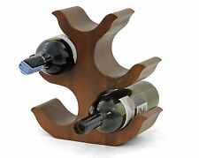"""Wooden wine rack bottle holder stand abstract tree handmade 11"""" Acacia. Brown"""