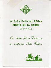 Futbol Felicitación Navidad Peña Betica Puerta de La Carne Sevilla (DB-122)