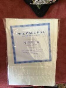 Pine Cone Hill Petite Ruffle Euro Sham NIP Ivory