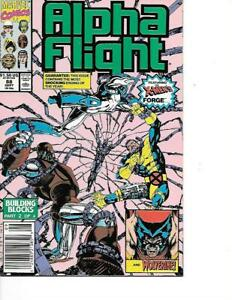Alpha Flight #88 Jim Lee Cover VF+/NM High Grade Wolverine App. Marvel 1990