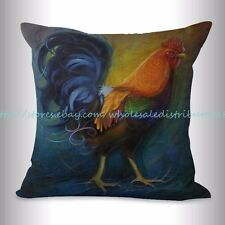 US SELLER, farmhouse animal rooster chicken cushion cover cheap throw pillow