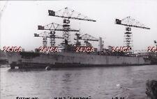 "ORIGINAL Photograph Royal Navy. HMS ""London"" Destroyer. Fitting out. Fine! 1962"