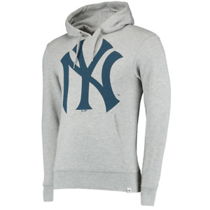Yankees Majestic Men's Hoodie MLB New York Prism Pullover Hoodie - Grey - New