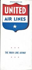 Airline Timetable - United Air Lines - 01/07/42