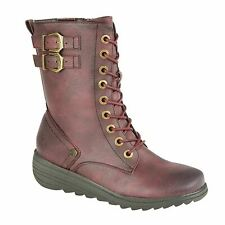 Ladies Womens Ankle Boots Zip 9 Eye Lace Up Memory Foam Shoes Size