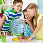 """8"""" World Globe for Kids Children, Illuminated Night LED Colorful Easy to Read"""