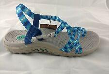 Skechers Sandals Size 8 Reggae Buckle Clip Blue Tie Dye Women's Toe Loop New