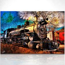 Zug alte Dampflokomotive Bild auf Leinwand Bilder Wandbilder Kunstdruck D0306