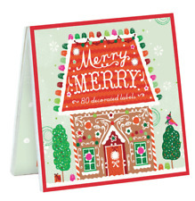 240 Anthropologie Set of 3 Sweet Books of Christmas Labels Gift Stickers Galison