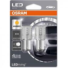 Osram DEL P21/5W Voiture Ambre Indicateur ampoules à baïonnette 380 A BAY15d 1457YE-02B (Twin)