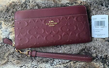 Coach Accordion Zip Wallet In Signature Leather C2035