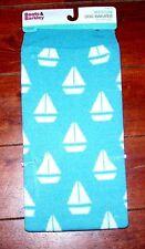 Boots & Barkley Dog Sweater Apparel Aqua w/White Sail Boats  MED.  FREE SHIPPING