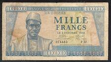 Guinea Paper Money - Old 1000 Francs Note - 1958 - P9 - FINE