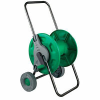 NEW HOSE PIPE REEL HOLDER TROLLEY CART GARDEN WATER PORTABLE FREE STANDING