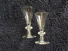 Steuben Crystal Wine Glasses With Teardrop Stem