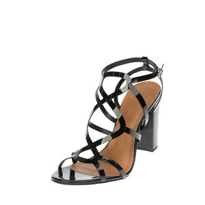 RRP €140 CECCONELLO Strappy Sandals Size 37 UK 4 US 7 Heel Varnished Open Toe