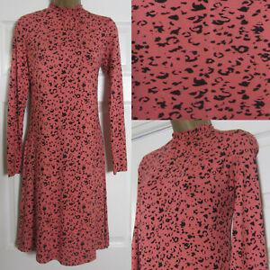 NEW M&S Marks & Spencer Ladies Animal Print Jersey Swing Tea Shift Dress 6-24