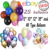 """10 20 12"""" Confetti Latex Balloons Helium B-DAY Party Wedding Baby Shower Large"""