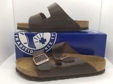 BIRKENSTOCK Women Arizona Habana Brown Leather Sandal Shoes Sz 9 EU40 ZB6-20