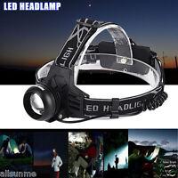 5000 Lumen Cree XM-L T6 LED USB Rechargeable 18650 Headlamp Headlight Head Torch