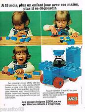 PUBLICITE ADVERTISING 065  1978  LEGO  jeux jouets  LES GROSSES BRIQUES