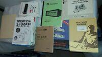 Lot of 59 Instruction Manuals, Some Schematics, 1950's & Later,Heathkit, Sarkes+