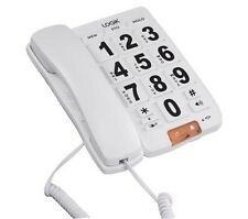 LOGIK L05CBIG10 Corded Phone With speakerphone Wall mountable White
