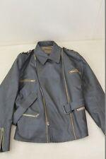 Vieux noir/gris Blouson moto Veste en cuir Oldtimer Youngtimer 60 s Années