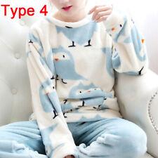 Women Cute Pajamas Set Warm Nightgown Female Cartoon Animal Pants Sleepwear 3c 3 L