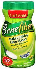 Benefiber Sugar Free Powder Diet Supplements 125 Packets, 17.6 Oz Each