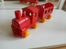 Viking Toys Train + Trailer in Red