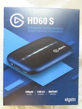 ELGATO GAME CAPTURE HD60 S 1080P STREAM INSTANTLY 1GC10990100 BRAND NEW, SEALED
