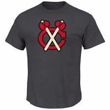 NHL T-Shirt Chicago Blackhawks Vintage Tek Patch Logo Eishockey Majestic