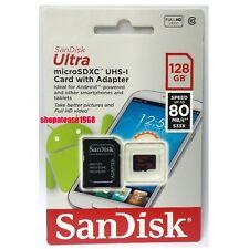New Sandisk 128G Ultra MicroSDXC Micro SD SDXC SDHC 128GB Class 10 80MB/s UHS-I